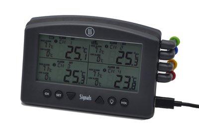 Signals™ 4-Kanaals Wi-Fi/Bluetooth BBQ Alarm Thermometer Zwart (Charcoal)